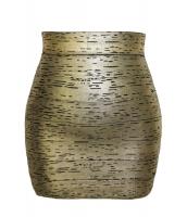 ソフト ブラック ゴールド ホイル ボンテージ スカート cc28326-2