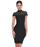 ブラック 格子 ボンテージ ドレス cc28354-2