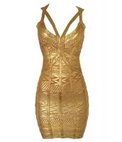 ゴールド ボンテージ ドレス cc28376