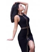 ゴールド メタル飾り 入り ブラック ボンテージ ドレス cc28419-2