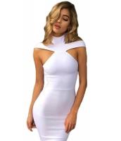 ホワイト 三角 カットアウト ボンテージ ドレス cc28447-1