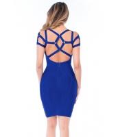 ロイヤル ブルー ストラップ ボンテージ ドレス cc28455-5