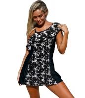 モノクロ パネル アクセント スイーム ドレス ショーツ lc410210-102
