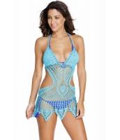 ブルー お祭りファッション クロシェ ビーチファッション cc41546-5