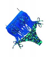 ブルー タッセル アクセント 2点セット ブラジリアン ビキニ 水着 cc41885-5