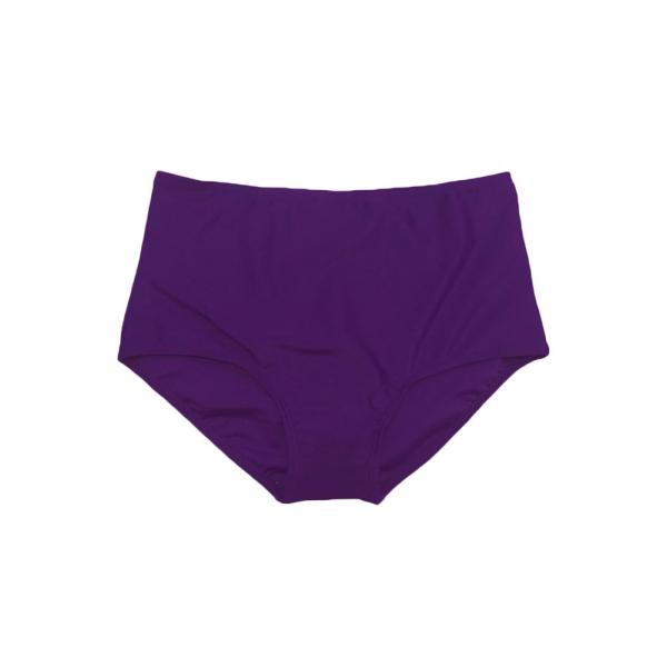 パープル ビーチ ファッション ハイウエスト ビキニ ボトムス cc41913-8