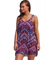 紫 自由奔放 スタイル シフォン ビーチ ドレス cc42175-8