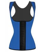ブルー ウエストニッパー 4 スチールボーン アンダーバスト コルセット  コルセット フルバック セクシー ダイエット 体型維持CC5378-4