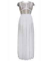 ホワイト シースルー レース シフォン ナイトドレス  ナイトドレス ドレス パーティドレス セクシードレス セクシーワンピースCC60081-1