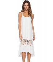 ホワイト ミディ ジャージー ドレス  ナイトドレス ドレス パーティドレス セクシードレス セクシーワンピースCC60100