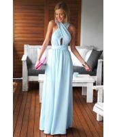 【即納】ライトブルー セクシー マキシドレス ドレス パーティドレス マキシドレス セクシードレス Aライン tk-cc60138-1-l-gz【カラー:ライトブルー】【サイズ:L】