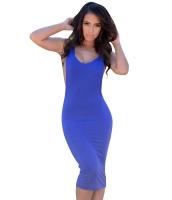ブルー 大きい 袖ぐり 袖なし ジャージドレス cc60398-1