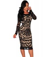 ブラック 大きいサイズ ビクトリアン ネット ヌード イリュージョン 長袖 ドレス cc60469-2p
