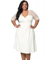 ホワイト 大きいサイズ シュガー & スパイス ドレス cc60671-2
