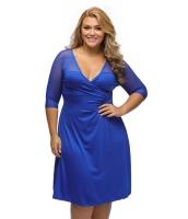 ロイヤル ブルー 大きいサイズ シュガー & スパイス ドレス cc60671-5