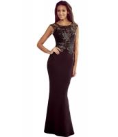 ブラック レース アップリケ シークイン マーメイド ナイトドレス イブニングドレス cc60770