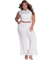 【即納】ホワイト ベルト付き ワイドレッグ ジャンプスーツ tk-cc60932-1-s-wh【カラー:ホワイト】【サイズ:S】