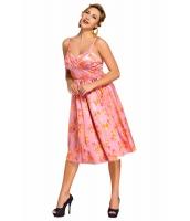 ピンク ピンアップ デジタル 花柄 スイング ビンテージ ドレス cc61063-10