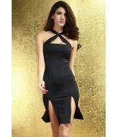 【即納】ワンピース セクシードレス パーティドレス クロスネック tk-cc6157-f-bk【カラー:ブラック】【サイズ:フリー】