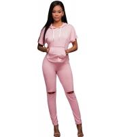 ピンク スクープ バック フード 2点セット パンツ セット cc62057-10