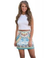 真夏の 幾何図案 スカート cc65031-22
