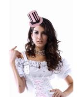 【即納】ミニハット | コスプレ | コスチューム | パーティグッズ | ピンクストライプミニ帽子-tk-cc70341-3【カラー:ピンク】【サイズ:フリー】