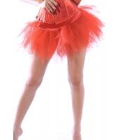 【即納】TK-cc7036-3-Sサイズ☆SALE☆チュチュ バニエ ペチコート コスプレ コスチューム 赤 レイヤード ペチコート【カラー:レッド】【サイズ:S】
