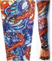 【即納】タトゥー(TATOO)スリーブ | メンズファッション小物 | バイオメカニカル スタイル タトゥースリーブ-tk-cc70440-628【カラー:画像参照】【サイズ:フリー】