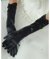 手袋 グローブ コスプレ コスチューム パーティグッズ ブラック エルボー丈 パール サテン グローブ-cc7092-2