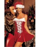クリスマス サンタ コスチューム コスプレ お祭り バックル ランジェリー コスチューム-cc7107