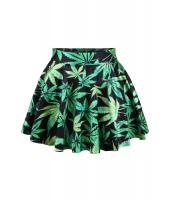 【即納】まやかし大麻 グリーン・リーブス フレア・ミニスカート tk-cc71082-f-gz【カラー:画像】【サイズ:フリー】