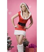 クリスマス サンタ コスチューム コスプレ クリスマス ファー ランジェリー コスチューム-cc7123