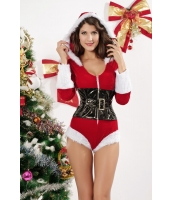 クリスマス サンタ コスチューム コスプレ お祭り レオタード ランジェリー コスチューム-cc7129