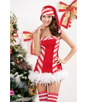 クリスマス サンタ コスチューム コスプレ サンタ キャディ クリスマス コスチューム-cc7165