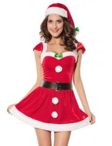 【即納】クリスマス サンタ コスチューム コスプレ クリスマス コスチューム コスプレ tk-cc7170-f-rd【カラー:レッド】【サイズ:フリー】
