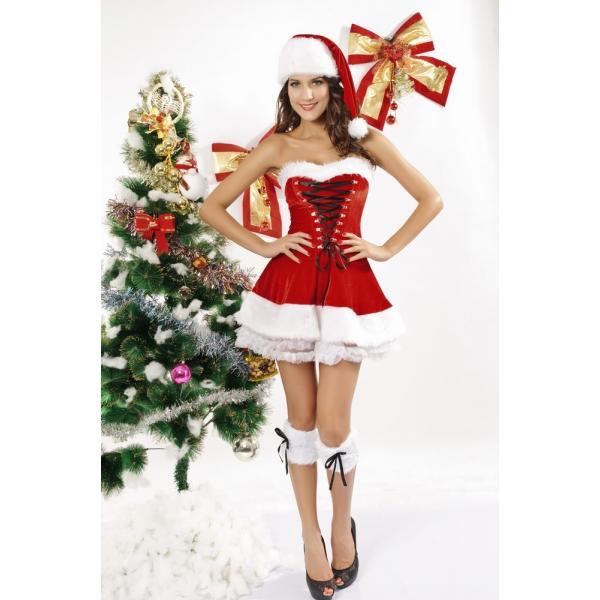 クリスマス サンタ コスチューム コスプレ 大きいサイズ3点セットcc7173p