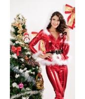 クリスマス サンタ コスチューム コスプレ レディースサンターレザー風-cc7202