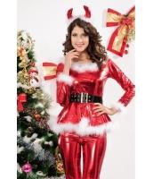 クリスマス サンタ コスチューム コスプレ レディースサンター4点セット-cc7207