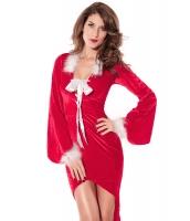 クリスマス サンタ コスチューム コスプレ ミステリロングドレス-cc7210