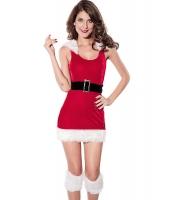 【即納】クリスマス | サンタ | コスチューム | コスプレ | 北極エルフブラトップセット-cc7218 tk-cc7218-red-f【カラー:レッド】【サイズ:フリー】