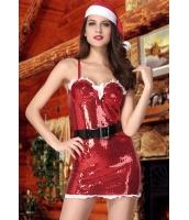 クリスマス サンタ コスチューム コスプレ シークイン3点セットcc7227