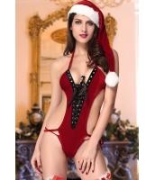 クリスマス サンタ コスチューム コスプレ ベルベットテディ2点セットcc7229