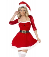 レディースサンタークリスマスコスチューム-cc7247
