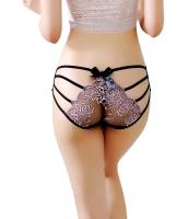 ピンク 花柄 刺繍 メッシュ ストラップ パンティ cc75090-10