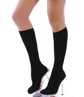 【即納】ソックス | 靴下 | レッグウェア | ハイソックス-tk-cc7901-2【カラー:ブラック】【サイズ:フリー】