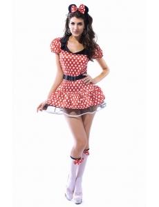 【即納】動物 アニマル パーティ衣装 コスチューム コスプレ Miss マウス コスチューム tk-cc8114-3xl-rd【カラー:レッド】【サイズ:3XL】