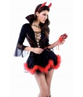 ハロウィン パーティ衣装 コスチューム コスプレ 大きいサイズデビルセットcc8296p