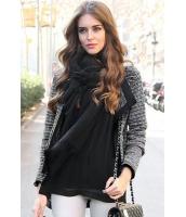 【即納】ファッションニットジャケット-cc85017-2【カラー:ブラック】【サイズ:L】