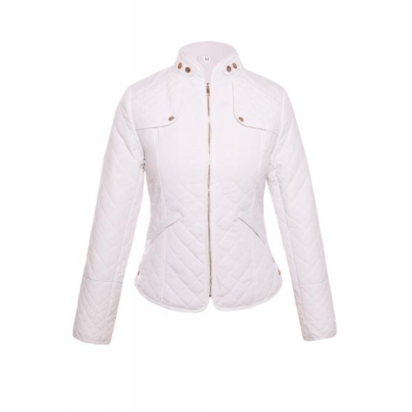 ホワイト ダイヤ 格子・縞模様 高品質 コットン ジャケット cc85038-1