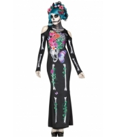 ハロウィン コスプレ ビューティフル 髑髏 ドレス コスプレ・コスチューム cc89046-2